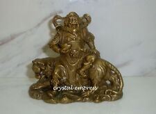Feng Shui - Small Brass Wealth God Sitting on Tiger
