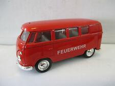 Welly 11,5cm 149764 Volkswagen  Microbus 1962 Feuerwehr mit Rückzugmotor  WS5630