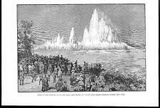 Soplado Hasta Hell Gate 1885 EE. UU Rocas visto desde 87th Street Nueva York (092b)