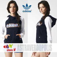 Adidas Originals Womens HOODIE BLUE TREFOIL Jacket  Rita Ora Size New AJ7688