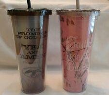 Duck Dynasty Duck Commander Cup Tumbler Straw Faith Family Ducks Plastic Tea