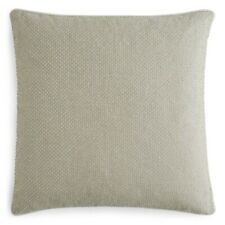 "Hudson Park Tri Texture Embroidered Decorative Pillow 18"" x 18"" Ivory"