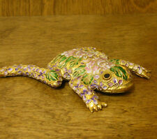 Victorian Treasures #A215-1 FROG LAYING pink flowers, NEW from Retail Shop, MIB