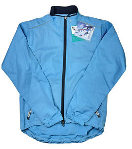 Canari Cycling Tour Jacket Medium Women Light Blue Poly Zip Off Arms NWT