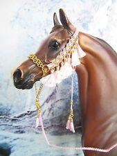 HW286 - LSQ Braided Arabian Halter for a Peter Stone & similar size Model Horses