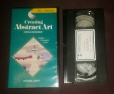 RARE Creating Abstract Art VHS Gerald Brommer Artist Instruction Video