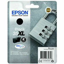 Genuine Epson 35XL Black T3591 WORKFORCE PRO WF-4720DWF WF-4730DWF Padlock Ink