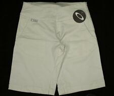 "Bnwt Women's Authentic Oakley Agenda Stretch Shorts W28"" UK10 Cement"