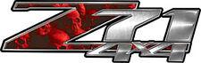 """Chevy Silverado Z71 4x4 Truck Decals Red Evil Skulls 13"""" REFLECTIVE 050"""