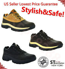 """Mens Work Boots 4"""" Short Winter Snow Boots Shoes Genuine Leather Waterproof 3017"""