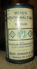 Antique Mead's Dextri-Maltose with Potassium Carbonate 3% 1 lb S/S Can