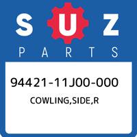94421-11J00-000 Suzuki Cowling,side,r 9442111J00000, New Genuine OEM Part
