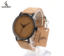 Genuine Unique BOBO BIRD Luxury Wooden Men Watch with Cork Strap
