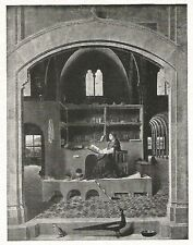 D0361 Antonello da Messina - San Gerolamo nello studio - Stampa 1929 - Old Print