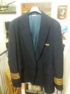 Giacca Comandante B737 Olympic airways taglia 50/52. Anni '80 vintage. Usata