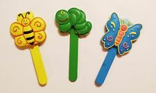 *3 Pack* Caterpillar Butterfly And Bee Resin Decorative Garden Stakes Fast Ship
