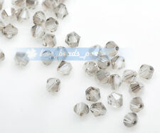 200ps 3mm Free Shipping Facted Crystal Glass Charm Loose Spacer Beads Clear Gray
