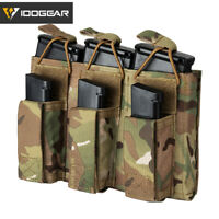 IDOGEAR Tactical Magazine Pouch Triple Mag Carrier 5.56 Open Top MOLLE Military