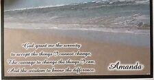 CHECKBOOK COVER BEACH WITH SERENITY PRAYER