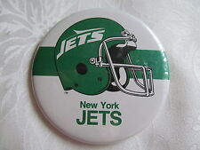 Vintage 1980's New York Jets NFL Football Button Pin B
