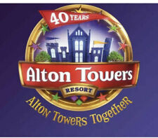 2 X Alton Towers E Tickets Saturday 21st August 2021 Sat 21.08.21 School Holiday