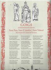 Gozo antique de San Pedro Apostol, San Cristobal y San Valentin holy card