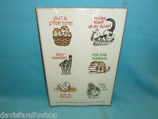 Frazzled Felines Stickers 1986 Current Inc Code 5146-4 Cat Cats Sticker Sheets