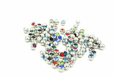 100pcs Crystal Gems Balls Replacement For Body Piercing Jewelry 1.6x5mm