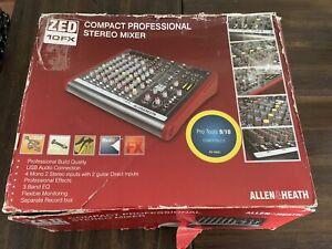 ALLEN & HEATH ZED-10FX Compact Multi-Purpose USB Recording Mixer