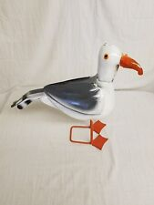 "19"" SEA GULL Recycled SCRAP metal Mexican yard art Junk LIFE SIZE Tin Sculpture"