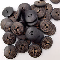 50 Pieces Round Flower Wooden Buttons 2 Holes Sewing Buttons for Craft DIY