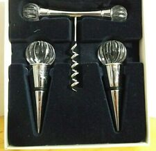 Royal Limited Crystal Bar Set Corkscrew Stoppers New