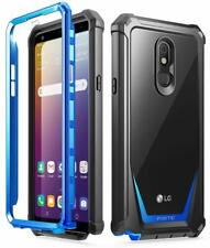 Lg Stylo 5 Cell Phone Case Poetic® Hybrid Clear Back Shockproof Cover Blue