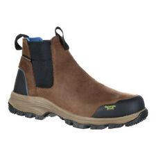 """Georgia Boot Men's   GB00106 5"""" BC Chelsea Waterproof Work Boot Dark Brown Full"""