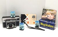 Vintage Kodak Instamatic X-35 Color Outfit Camera with User Manuel Booklet Bulbs