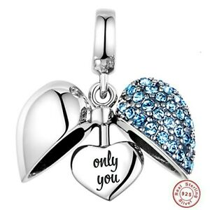 💖 I Love You Only You Wife Girlfriend Charm Genuine 925 Sterling Silver 💖
