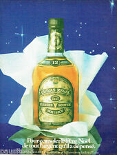 PUBLICITE ADVERTISING 016  1982  Chivas  whisky père noel