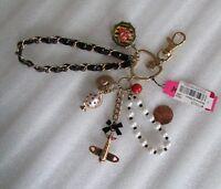 Betsey Johnson Key Fob Handbag Charm World Traveler Take Me Away NEW $65