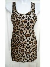 new womens brown leopard animal print sleeve tank top blouse sexy