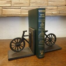 Cast Iron Bicycle Cycle Shaped Pair of Bookends