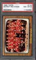 1966 TOPPS #119 DETROIT RED WINGS TEAM PSA 8 *CG0299