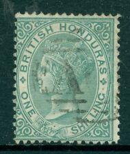 SG 4 British Honduras 1865 1/- Green no wmk perf 14 very fine used CAT £130