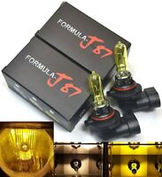 Rally 9005 HB3 100W 3000K Yellow Two Bulbs Head Light Dual Beam Replace Hi Watt