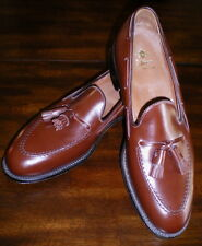 ALDEN New England MENS Tassel Moccasin LOAFER SHOE 10 1/2 NEW Walnut Leather 560
