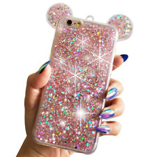 "for iPhone 6/6s Plus 5.5"" Pink Glitter Holographic Minnie Mickey Ear Disney Case"