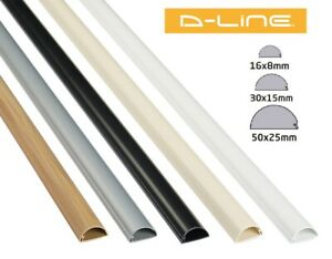 D-Line PVC Self Adhesive Trunking Cable Management Hide Cover Dline Plastic