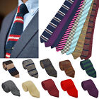 Men's Colourful Tie Knot Knitted Tie Necktie Narrow Slim Skinny Woven Gift H