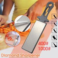 1000# 400# Double Side Diamond Knife Sharpening Stone Sharpener Whetstone US