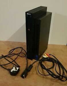 Sony Playstation 2 Black PS2 Fat Console SCPH 39003 PAL Tested Fully Working