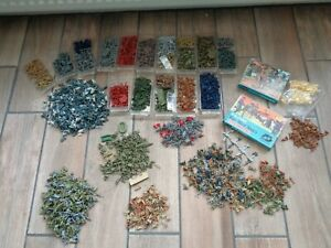 Large Job Lot Of HO/OO Plastic Soldier Figures - WW2/Horse Drawn/Some Medieval